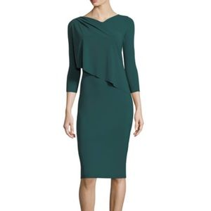 Chiara Boni Nubia 3/4 Sleeve Layered Sheath Dress